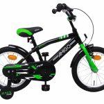 AMIGO BMX Fun 16 Inch 28 cm Jongens Terugtraprem Zwart/Groen