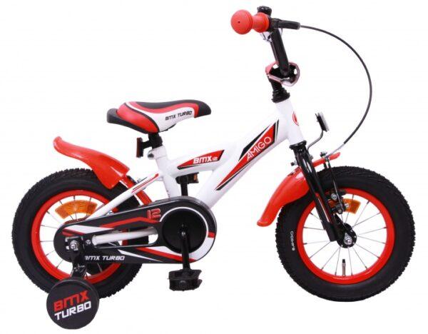 AMIGO BMX Turbo 12 Inch 19 cm Jongens Terugtraprem Wit