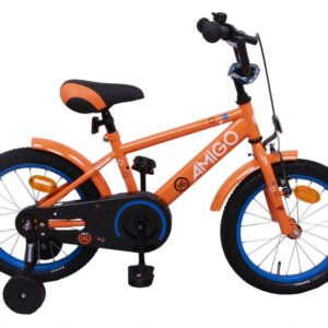 AMIGO Sports 14 Inch 22 cm Jongens Terugtraprem Oranje