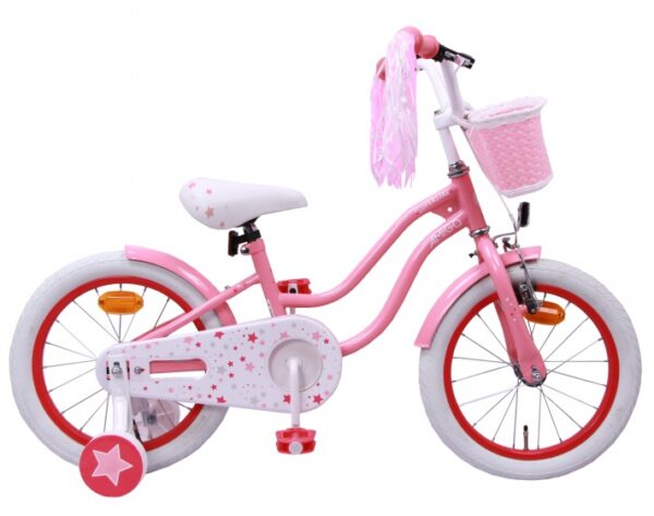 AMIGO Superstar 16 Inch 25 cm Meisjes Terugtraprem Roze