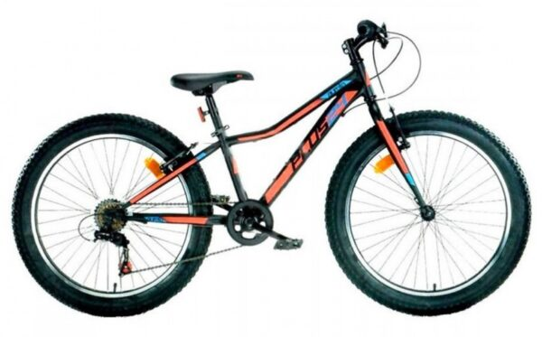 Aurelia Mountainbike 24 Inch 38 cm Junior 6V V-Brake Zwart/Oranje