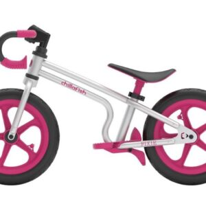 Chillafish Fixie loopfiets Junior Zilver/Roze