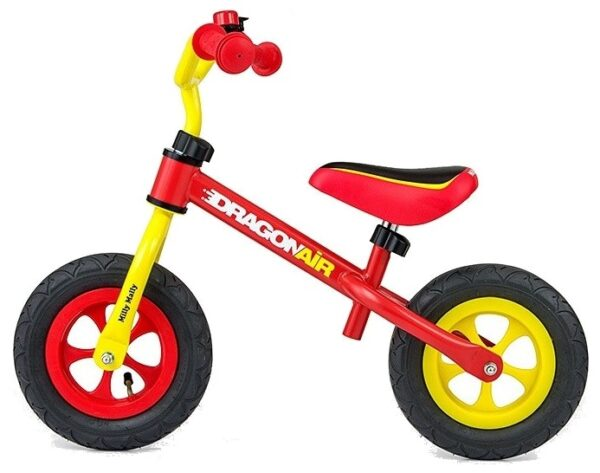 Milly Mally loopfiets Dragon Air 10 Inch Junior Geel/Rood