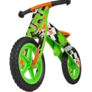 Milly Mally loopfiets Flip Green 12 Inch Junior Groen