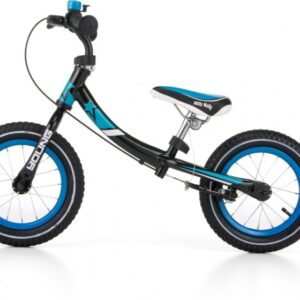 Milly Mally loopfiets Young 12 Inch Junior Knijprem Zwart