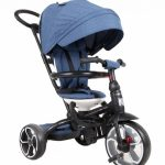 QPlay Prime 4-in-1 driewieler Junior Blauw/Zwart