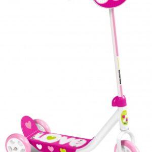 Skids Control kinderstep Love Meisjes Roze/Wit