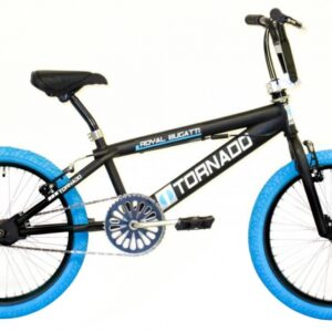 Bike Fun Tornado 20 Inch 55 cm Unisex V-Brake Matzwart/Blauw