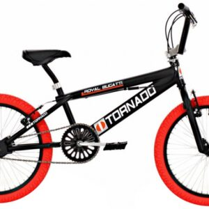 Bike Fun Tornado 20 Inch 55 cm Unisex V-Brake Zwart/Rood