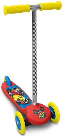 Disney Mickey Mouse 3-wiel kinderstep Junior Voetrem Rood/Geel
