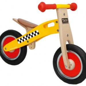 Scratch Move-It houten loopfiets taxi Junior Geel/Blank