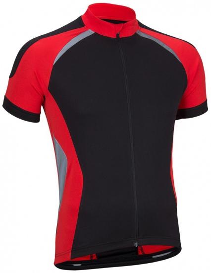 Avento Fietsshirt korte mouw heren zwart/rood/zilver maat L