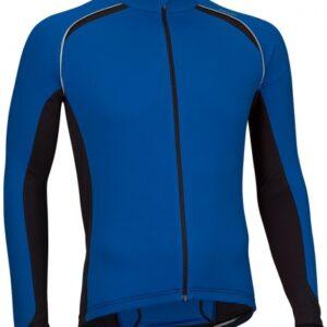 Avento Fietsshirt lange mouw heren blauw/zwart/wit maat S