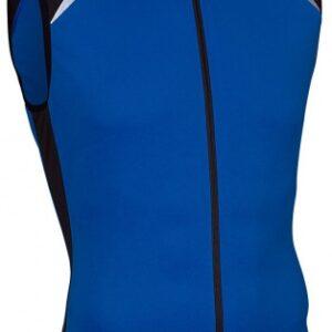 Avento Fietsshirt mouwloos heren blauw/zwart/wit maat S