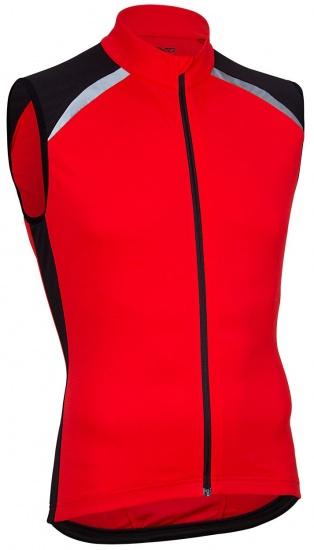 Avento Fietsshirt mouwloos heren rood/zwart/wit maat L