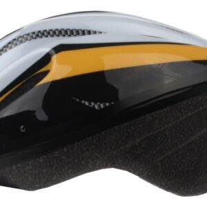 Bicycle Gear fietshelm volwassen maat 58/61 cm geel/grijs