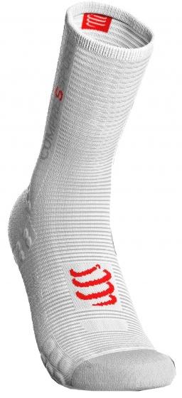 Compressport Pro Racing V3.0 fietssokken wit/rood maat 35-38