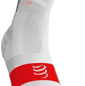 Compressport Ultralight V3.0 fietssokken wit maat 45-48