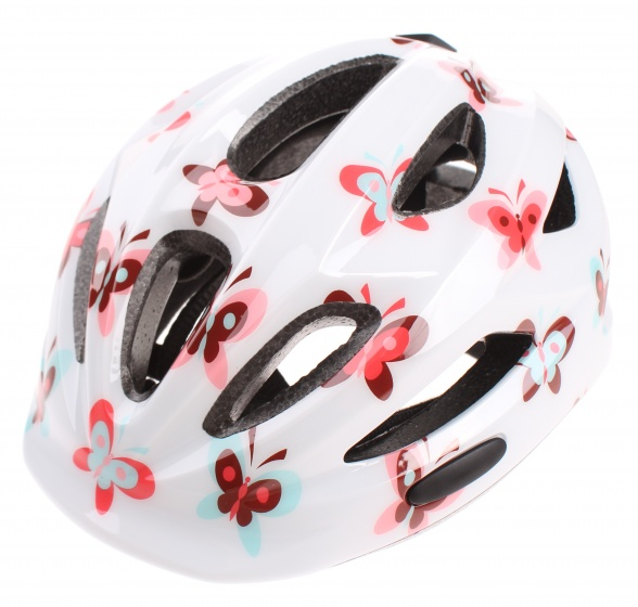Cycle Tech fietshelm Butterfly wit maat 46/52 cm