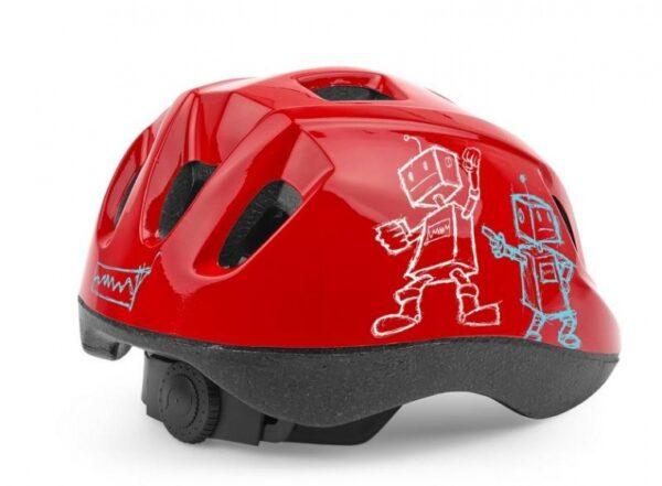 Cycle Tech kinderhelm Robot rood maat 52-56 cm