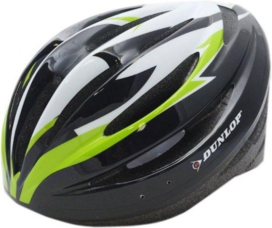 Dunlop Fietshelm HB13 Unisex Groen / Zwart Maat 51/55 cm