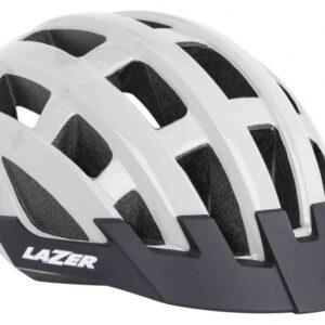 Lazer fietshelm Compact Deluxe unisex wit maat 54-61 cm