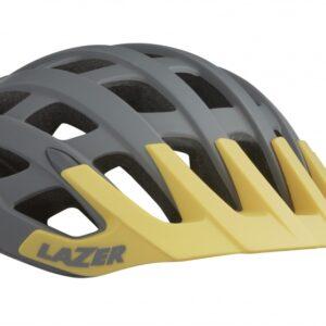 Lazer fietshelm Roller MTB unisex grijs/geel maat S