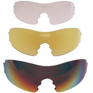 Lazer lenzenset fietsbril M1-S rood/geel/transparant