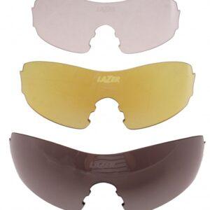 Lazer lenzenset fietsbril M1-S zwart/geel/transparant