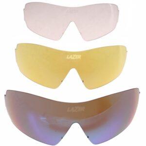 Lazer lenzenset fietsbril M1 (metalen neusstuk) 3-delig blauw