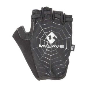 M-Wave fietshandschoenen Spiderweb-Gel zwart maat S