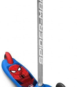 Marvel Spider-Man 3-wiel kinderstep Jongens Voetrem Blauw/Rood