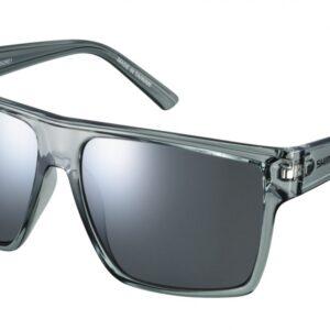 Shimano fietsbril Square unisex zilver spiegelend transparant