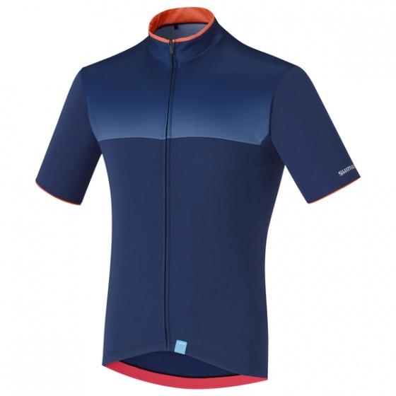 Shimano fietsshirt Escape heren blauw maat S