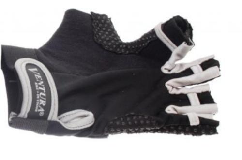 Ventura Fietshandschoenen Gel Zilver Zwart Maat L