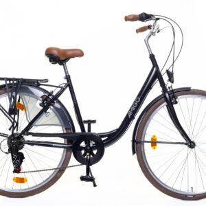 AMIGO Style 28 Inch 56 cm Dames 6V V-Brakes Zwart