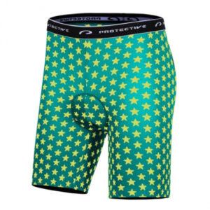 Protective fietsbroek P-Meteor heren polyester groen