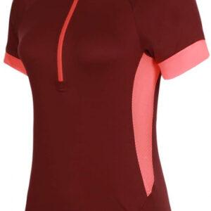 Protective fietsshirt P-Heart dames polyester koraalrood