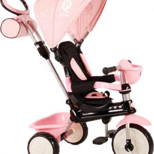 QPlay driewieler Comfort 4-in-1 Meisjes Roze